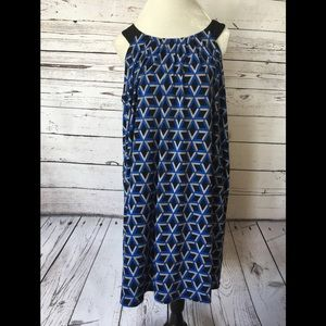 Black & Blue Loose Dress
